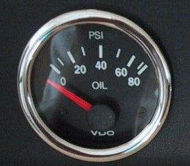 VDO Vision Gauge with OEM BMW Chrome Bezel
