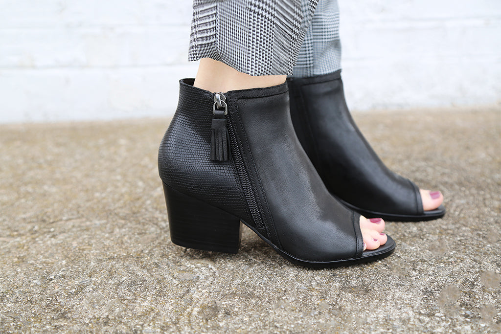 Introducing the Ania, our brand new open-toe booties!