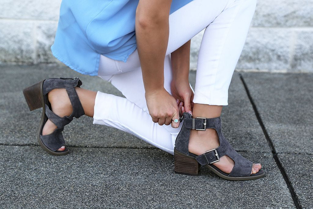 Buckle up for summer in the new Jahida, comfortable transitional women's heels from Nicole Shoes. Perfect for spring, summer, or all year-round wear!