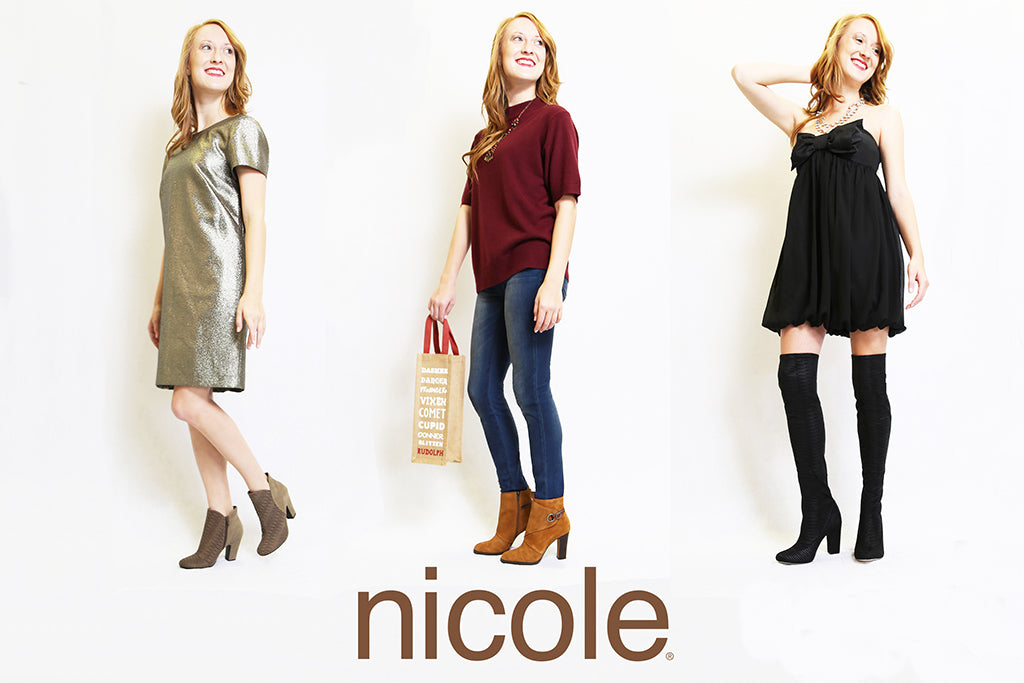 Want a stylish, on-trend look for Christmas? Check out Nicole Shoes and our Holiday Style Guide.