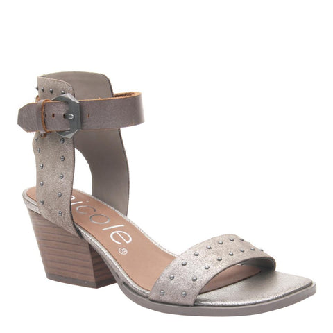 AZIKA in DOVE GREY Heeled Sandals