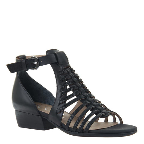 TRIS 2 in BLACK Wedge Sandals