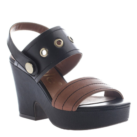 Nicole, Cecelia, New brown, Heel sandal with ankle strap
