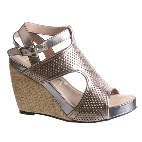 JOZANA in DOVE GREY Wedge Sandals