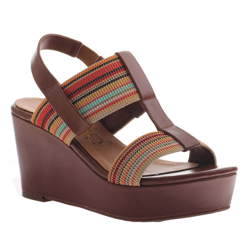 Nicole, Dixy, Brownstone, Wedge with ankle strap