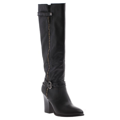 Nicole_Gloribel_Black_Tall heel boot with side buckle