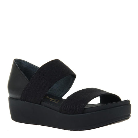 JOZANA in BLACK Wedge Sandals