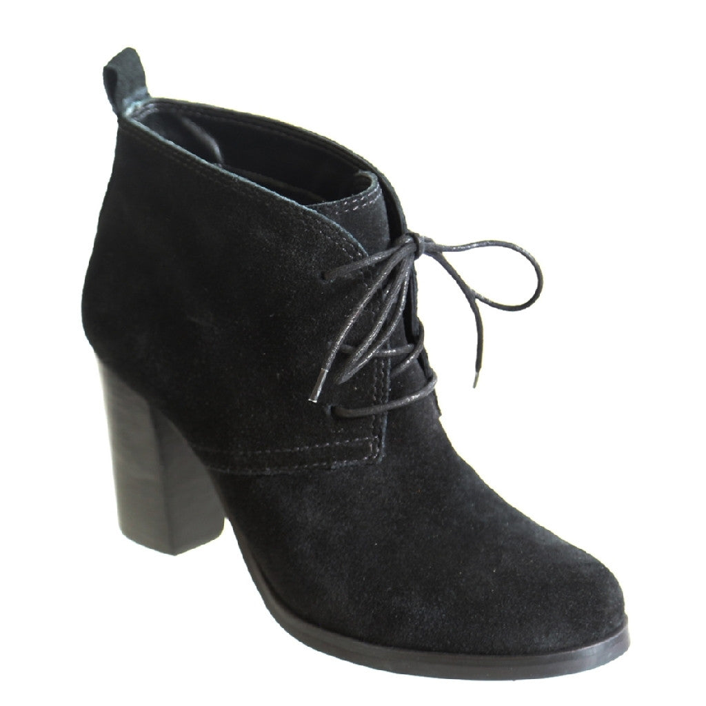 Nicole_Irenee_Black_Oxford suede chukka bootie with cotton laces