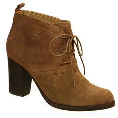 Nicole_renee_Light Brown_Oxford suede chukka bootie with cotton laces
