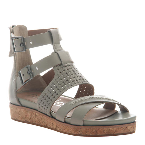 AZIZA in DOVE GREY Wedge Sandals