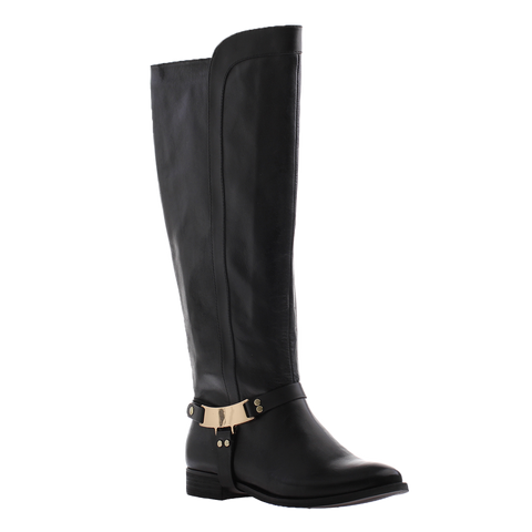 Nicole, Kali, Black, Tall boot with metal side buckle