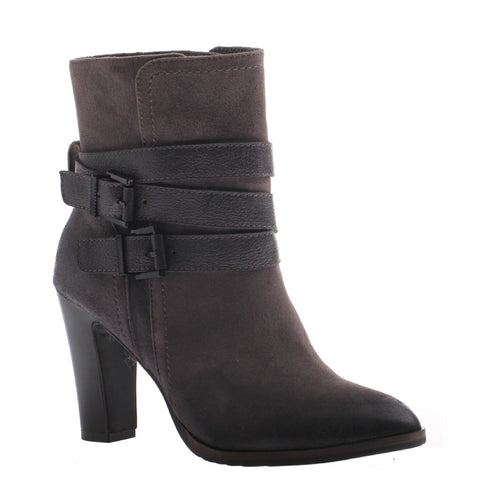 Nicole, Kalli, Lead, Short bootie with side buckles and 3.5 inch heel