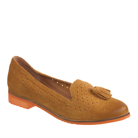 Nicole, Karine, Honey, suede leather oxford with tassle