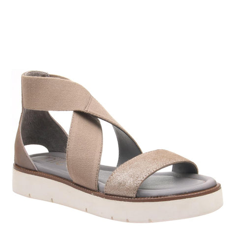 TRIS 2 in OLD GOLD Wedge Sandals