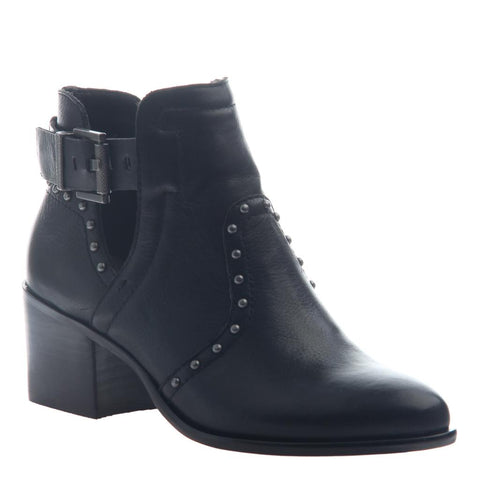 RAYNA in BLACK Open Toe Booties
