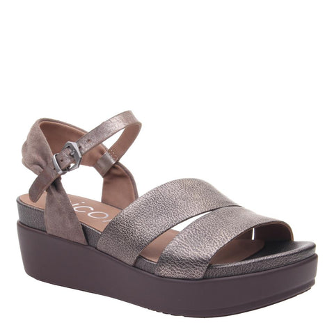 KIRRA in SILVER Wedge Sandals
