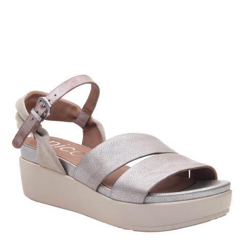 AMABEL in GREY PEWTER Heeled Sandals