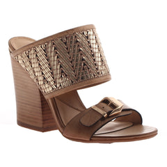 Nicole, Lanette, Desert, classic mule with a stacked heel