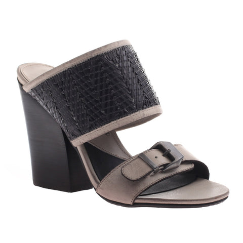 Nicole, Lanette, Quick Silver, classic mule with a stacked heel