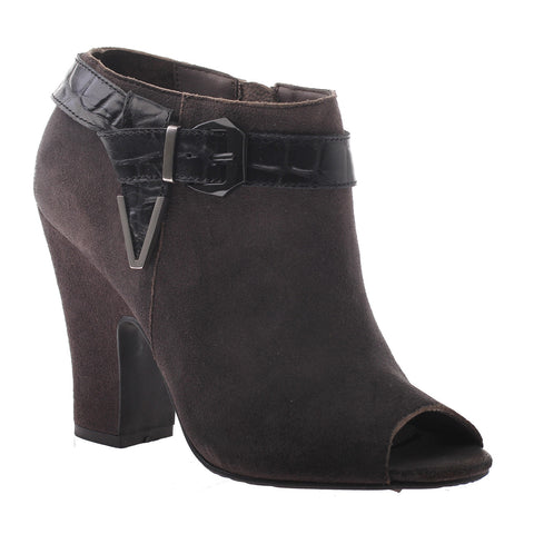 Nicole, Lin, Lead, Heel bootie with side buckle and open toe