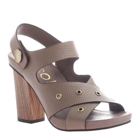 Nicole, Noemi, New Taupe, Criss cross heel with velcro ankle strap