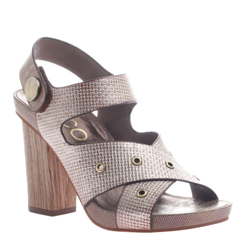 CAROLINA in PEWTER Heeled Sandals