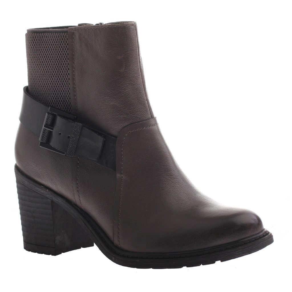 Nicole, Reiny, New Grey, Combat bootie with side buckle