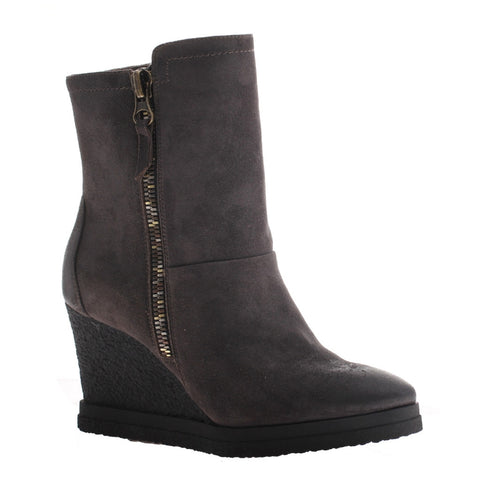 Nicole, Selen, Lead, Wegde bootie with side zipper