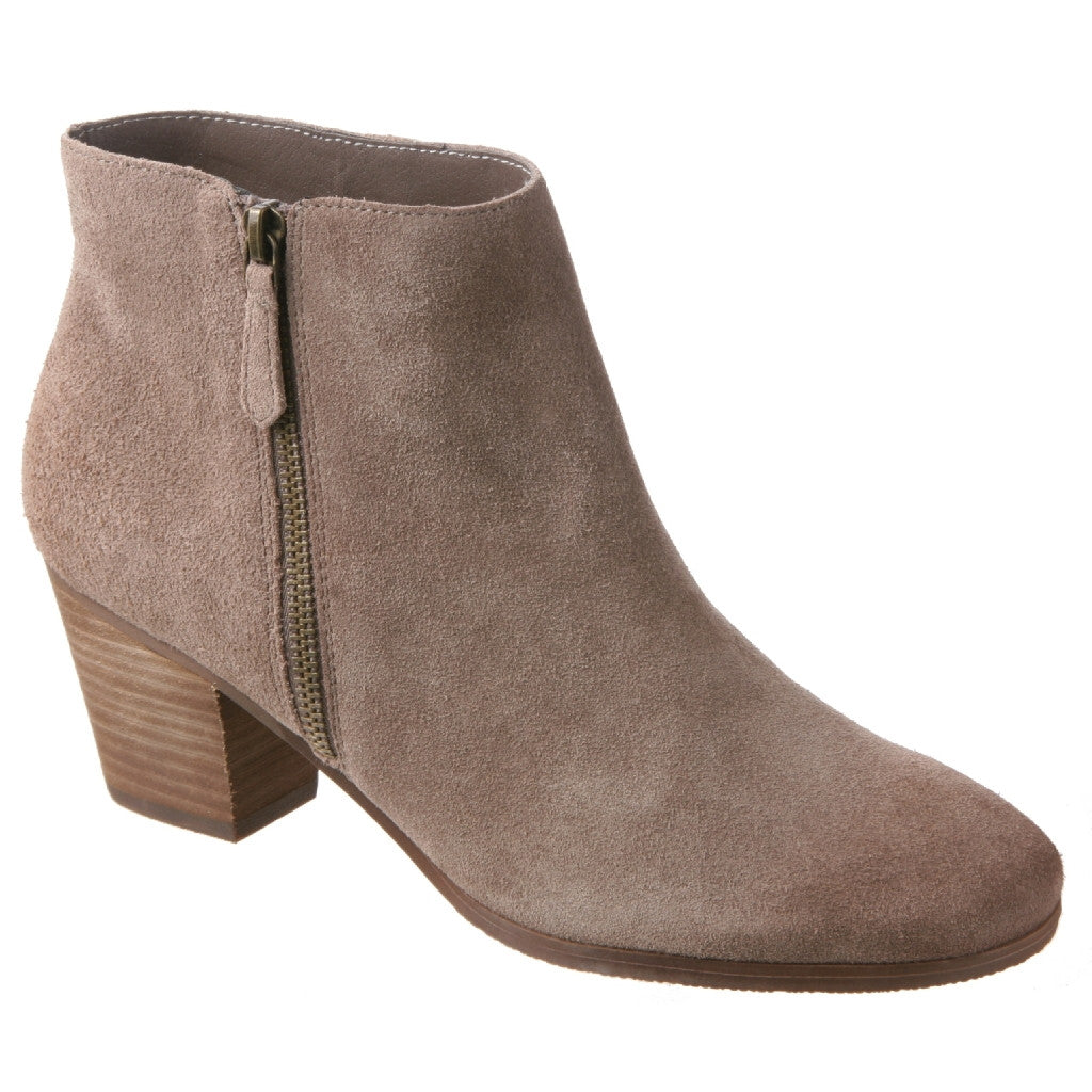 stack in taupe ankle boots women s shoes by nicole nicole shoes