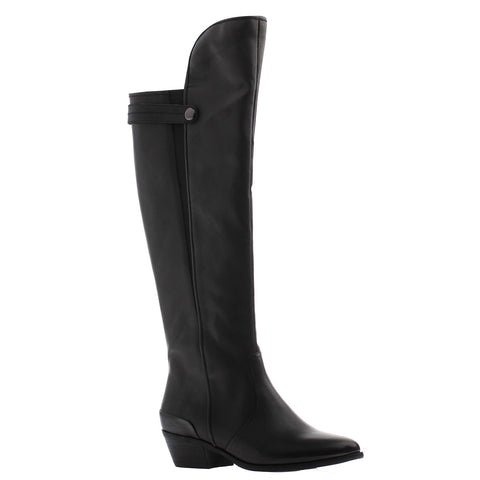 Nicole, Tamsin, Black, Over the knee tall leather boot