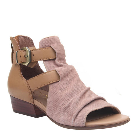 LIVIA in COPPER Open Toe Booties