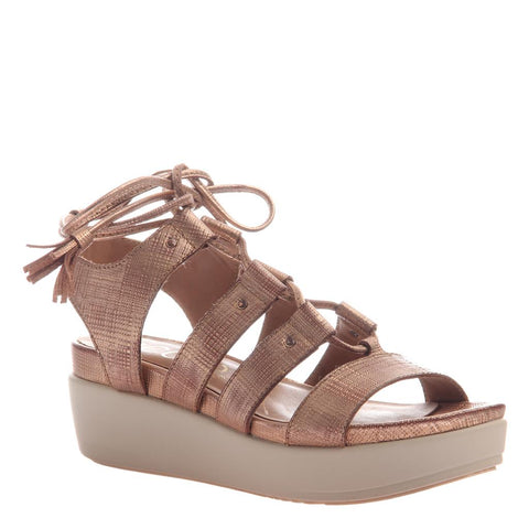 EFFIE in PEWTER Flat Sandals