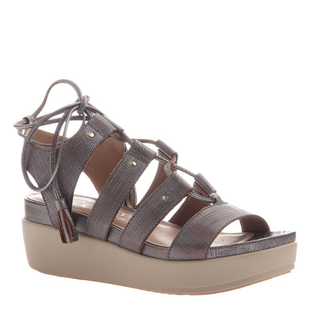 2ed4c6369c60 Tris 2 in Pewter Wedge Sandals
