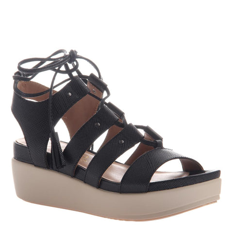 AZIZA in BLACK Wedge Sandals