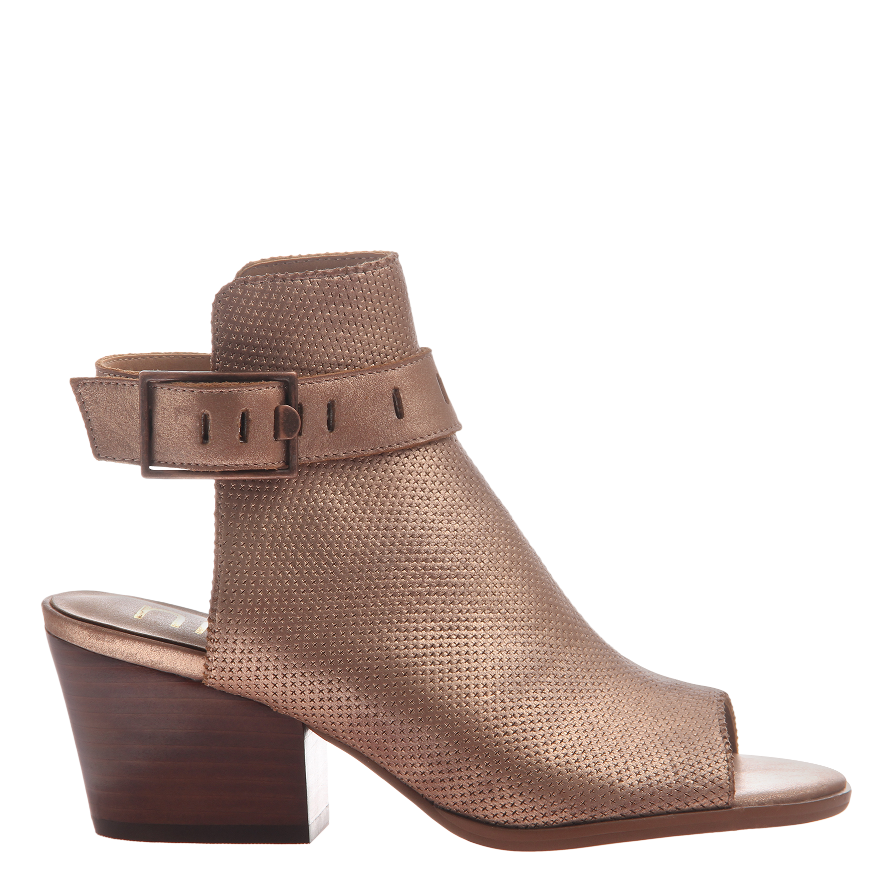 Women's heeled shootie Talullah in copper side view