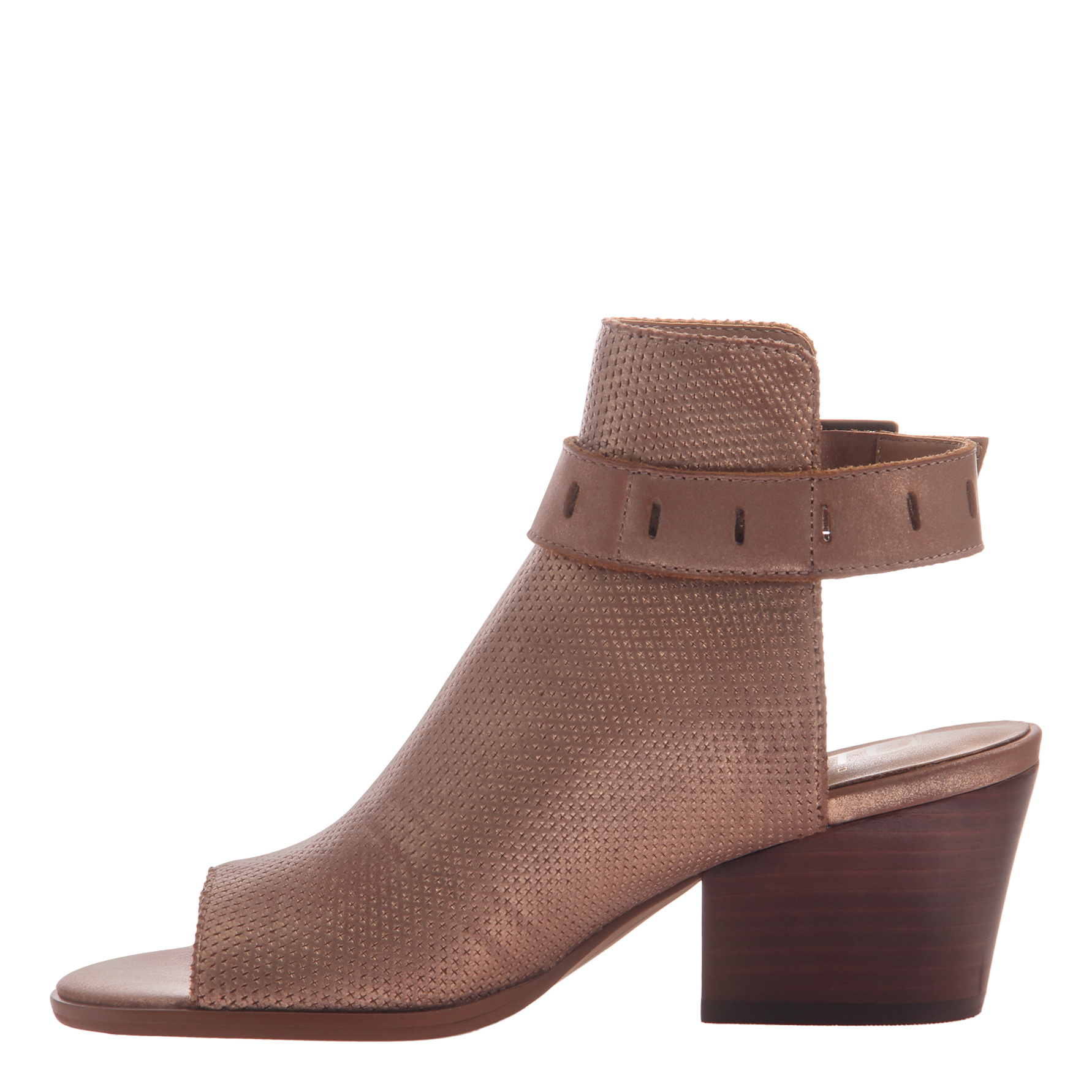 Women's heeled shootie Talullah in copper inside view