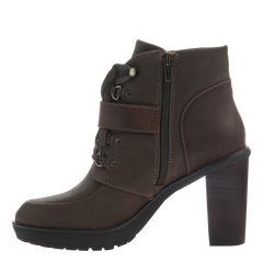 Womens ankle boot Sylvie in mint inside view