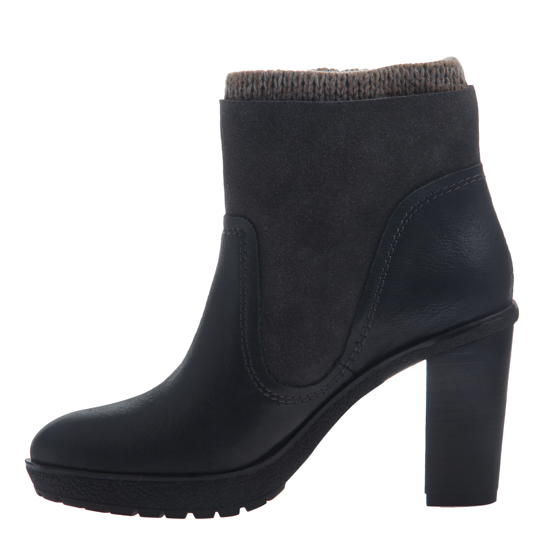 Nicole women's ankle boot roselle in lead inside view