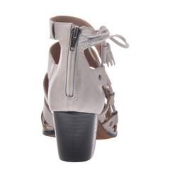 Tatiana womens heeled sandal in Light Clay back view