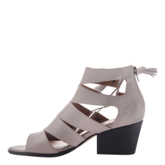 Tatiana womens heeled sandal in Light Clay inside view