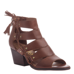 Tatiana womens heeled sandal in chestnut