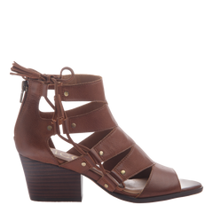 Tatiana womens heeled sandal in chestnut side view