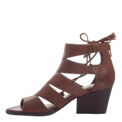 Tatiana womens heeled sandal in chestnut inside view
