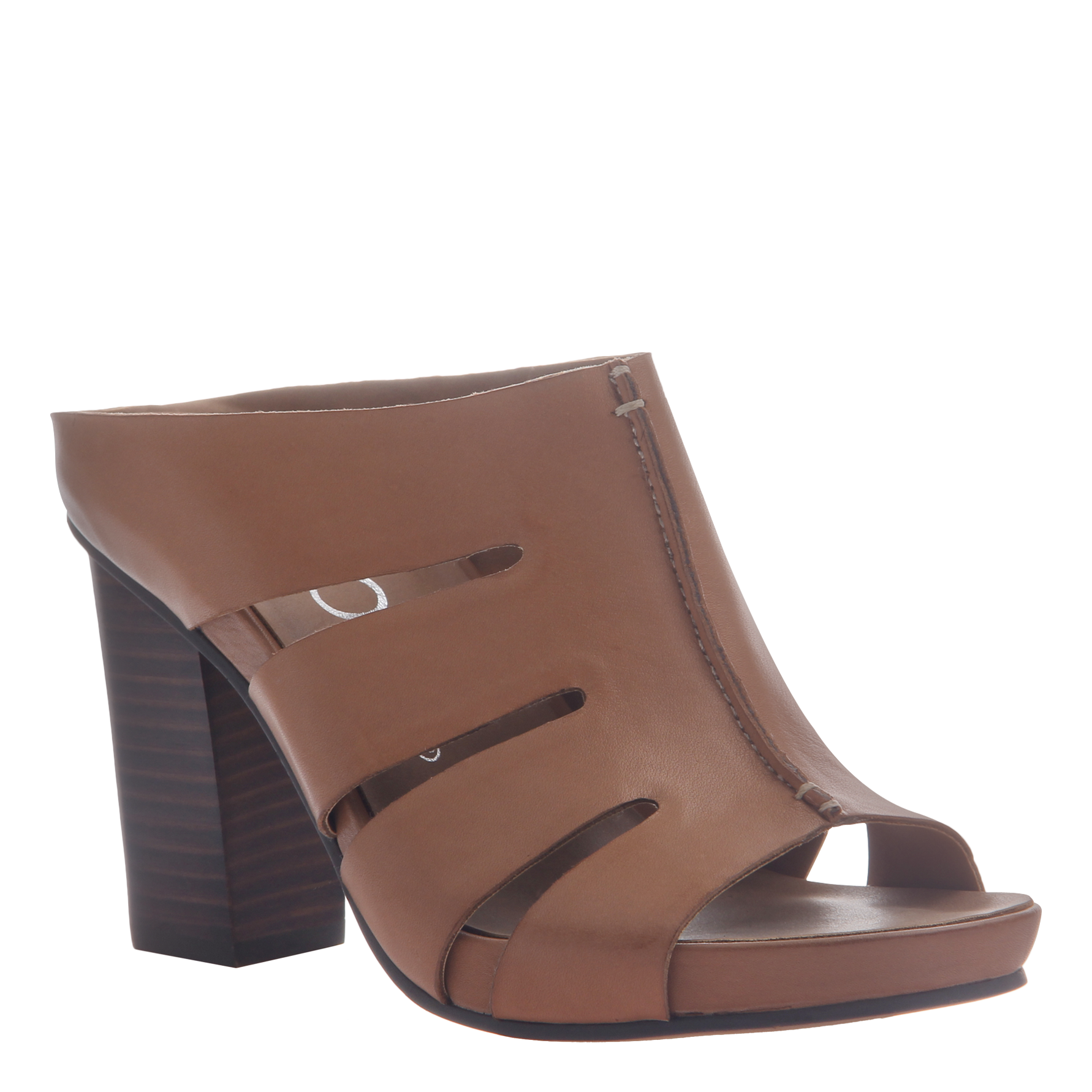 Nicole womens heeled sandal Delphine in brown leather