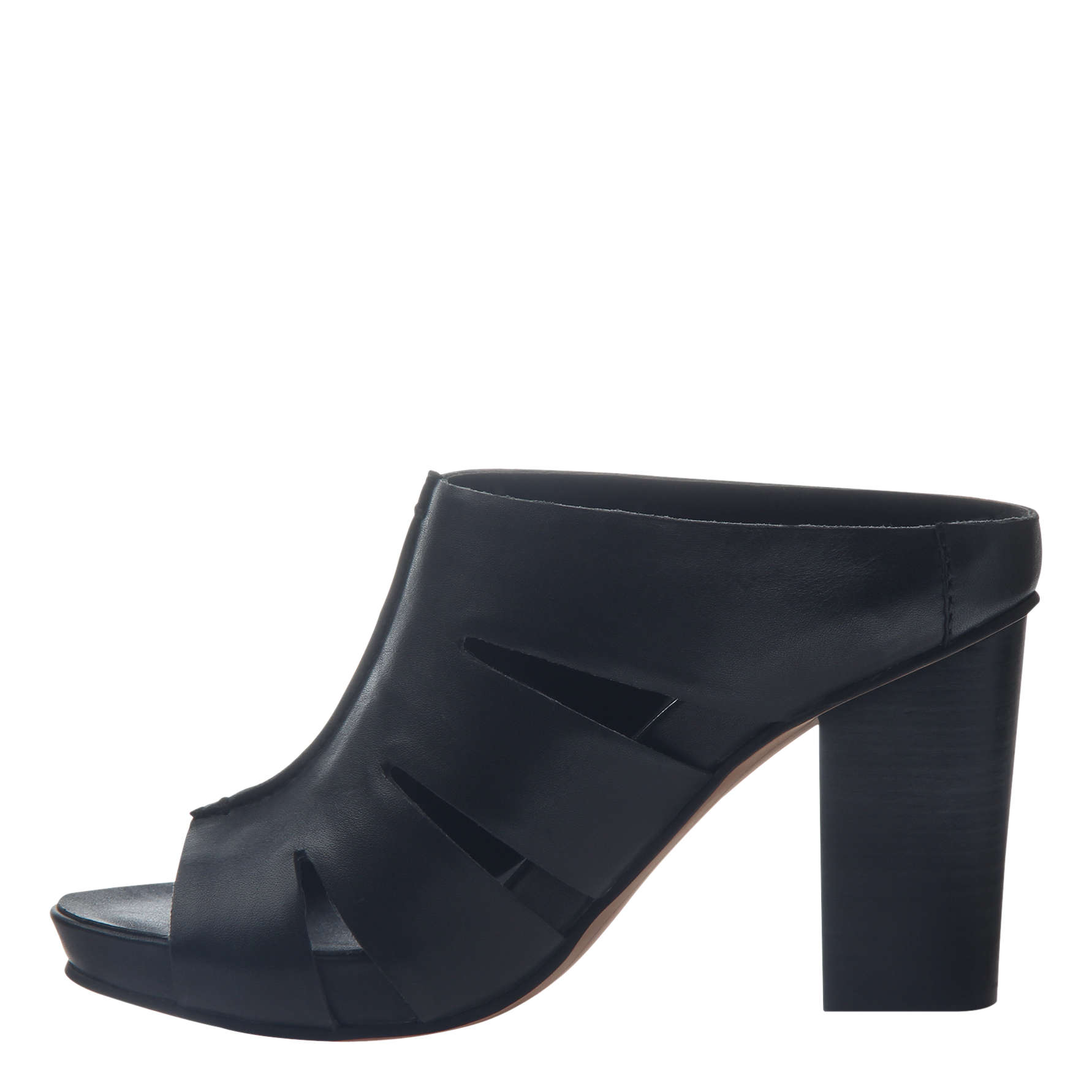 Nicole womens heeled sandal Delphine in black inside view