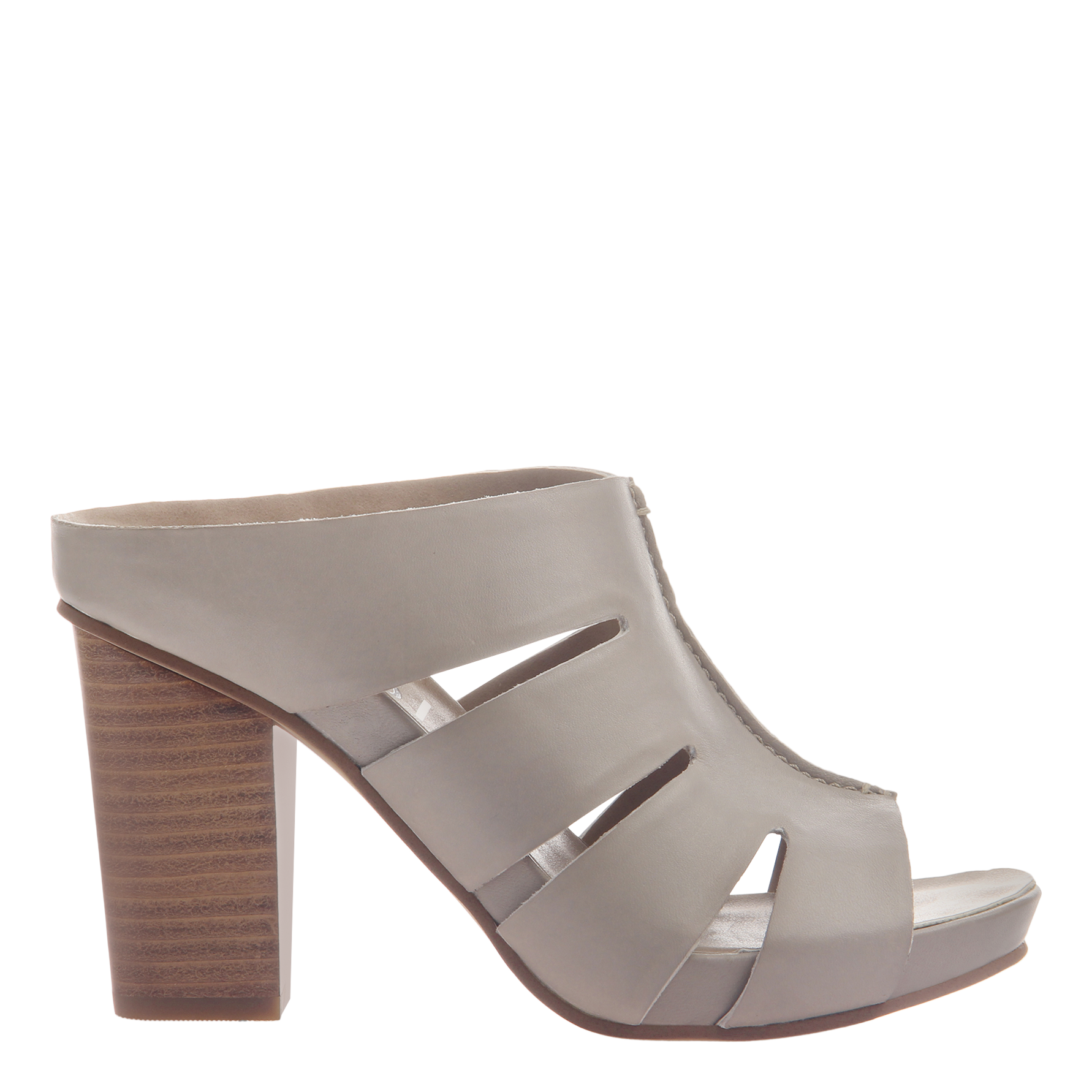 Nicole womens heeled sandal Delphine in grey side view