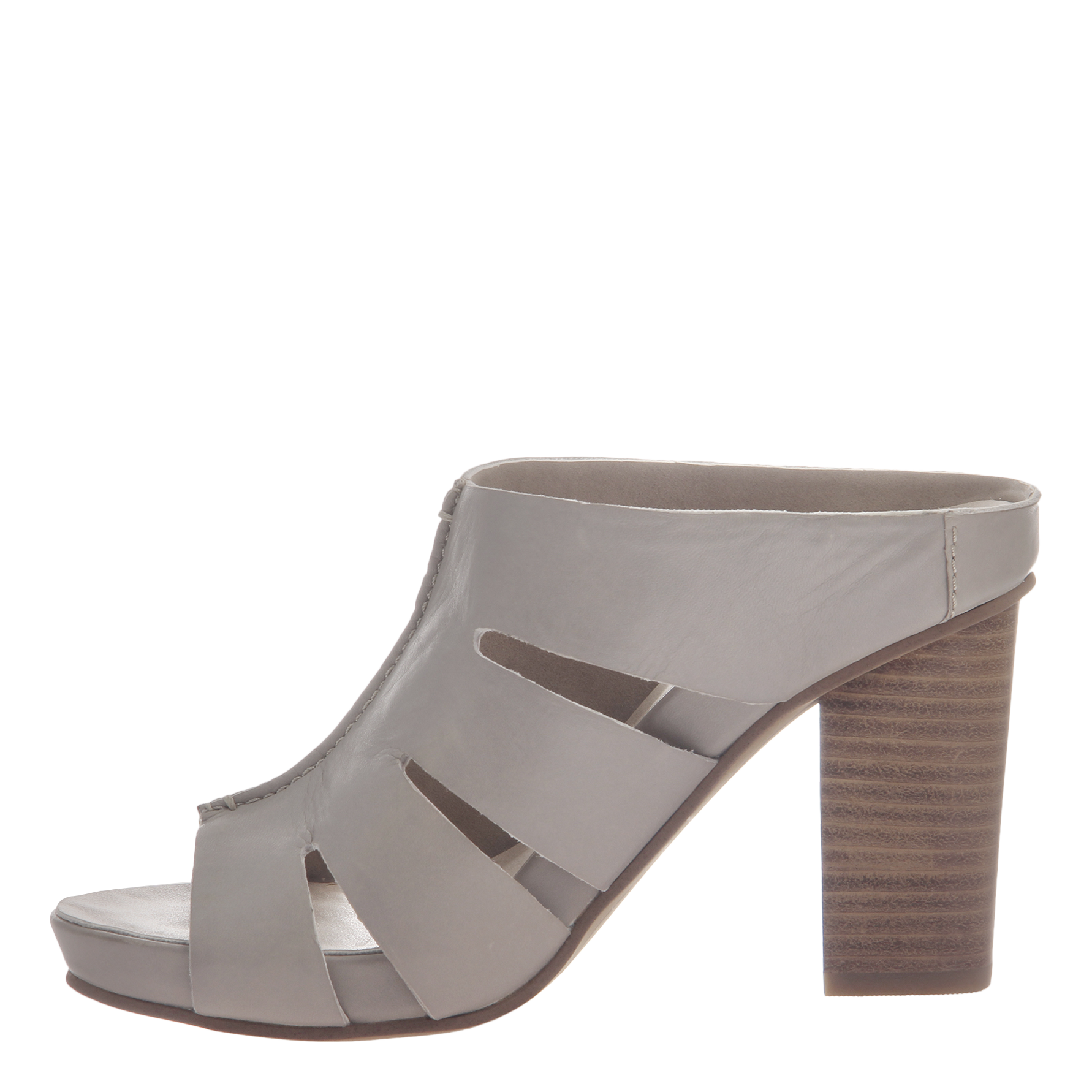 Nicole womens heeled sandal Delphine in grey inside view