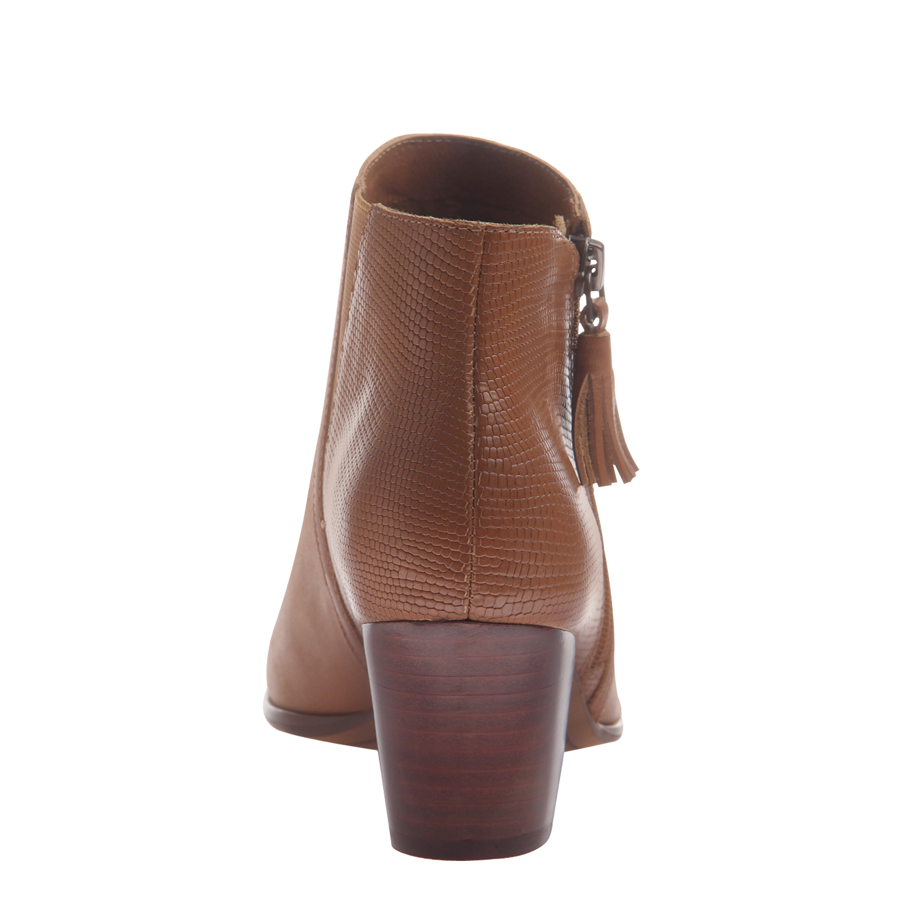 Nicole womens ankle boot Ania in butterscotch back view