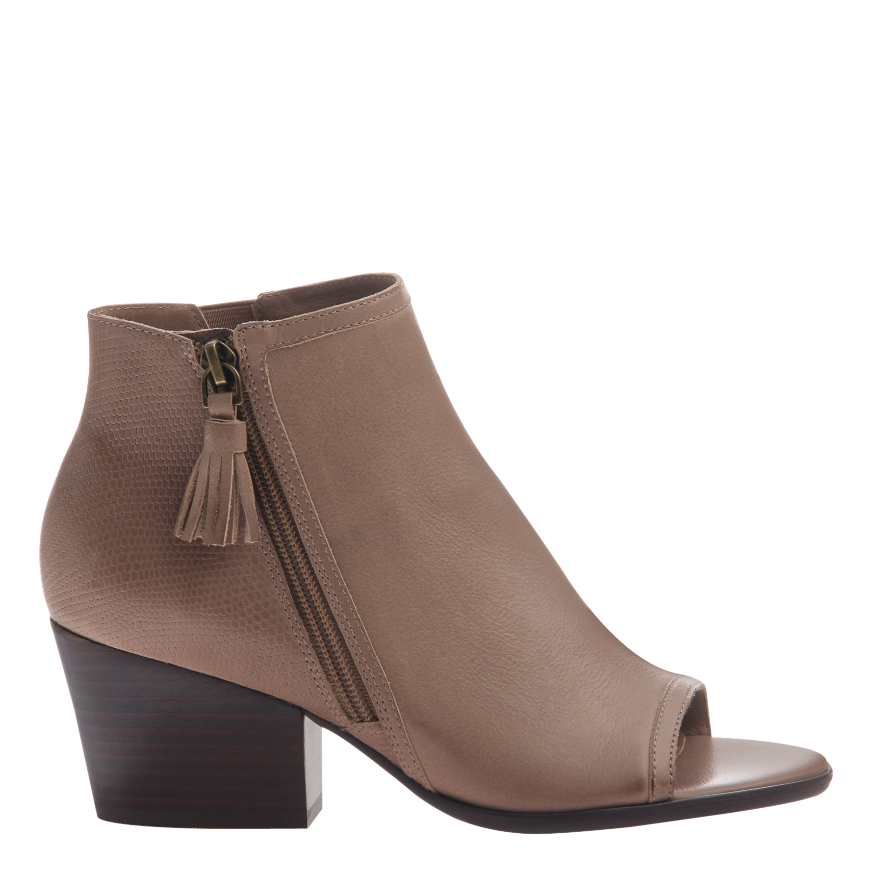 Nicole womens ankle boot Ania in pecan side view