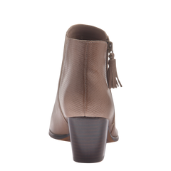 Nicole womens ankle boot Ania in pecan back view